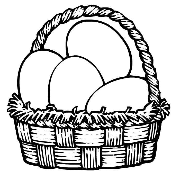 Awesome Easter Egg Basket Coloring Pages Printable