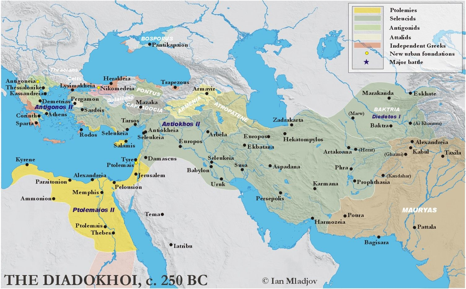 Diadokhoi map original game of thrones map of the hellenistic diadokhoi map original game of thrones map of the hellenistic world 3rd century bce gumiabroncs Image collections