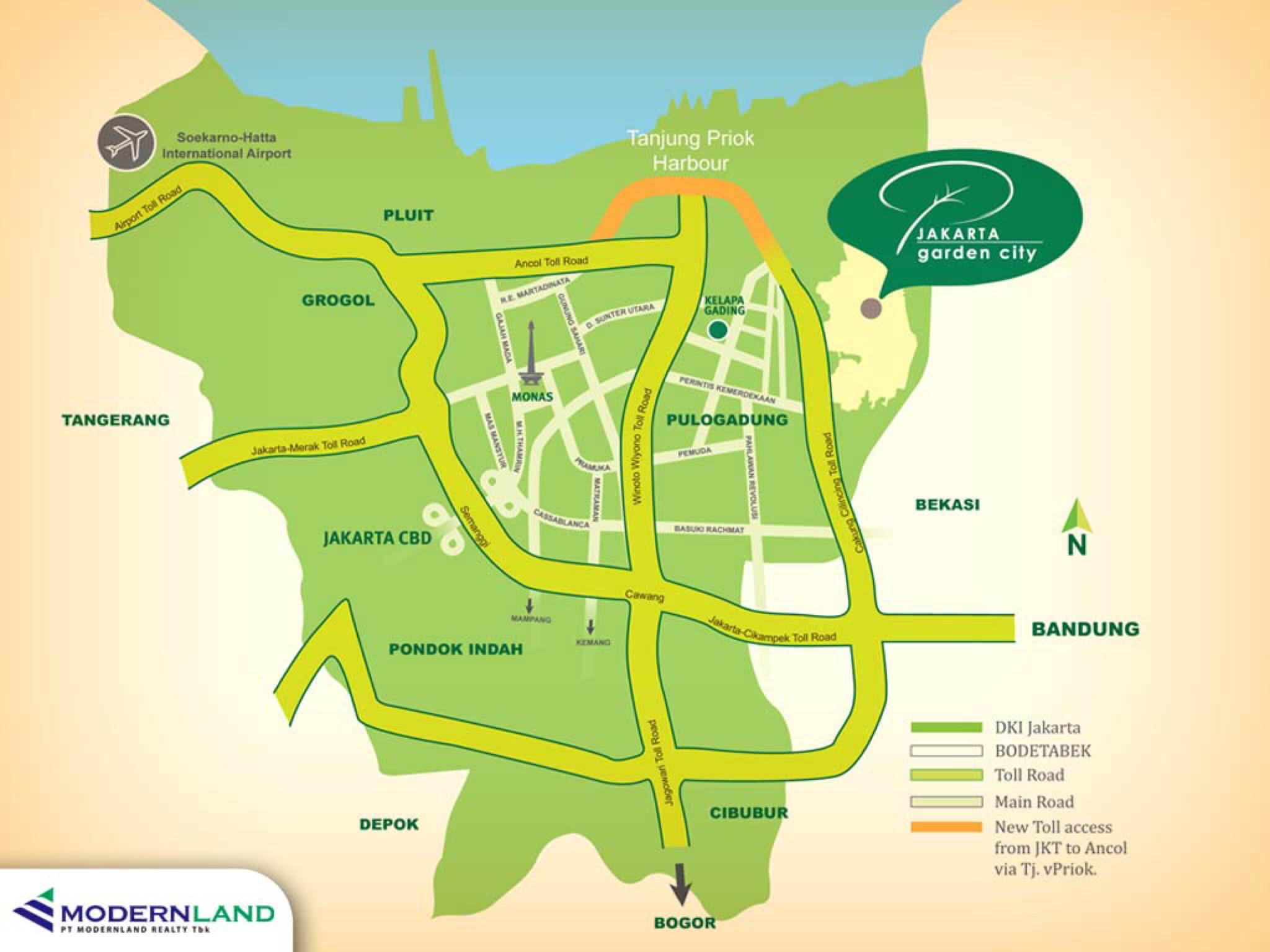 Jakarta Garden City - Location Map | Dijual Rumah - Jakarta Garden ...