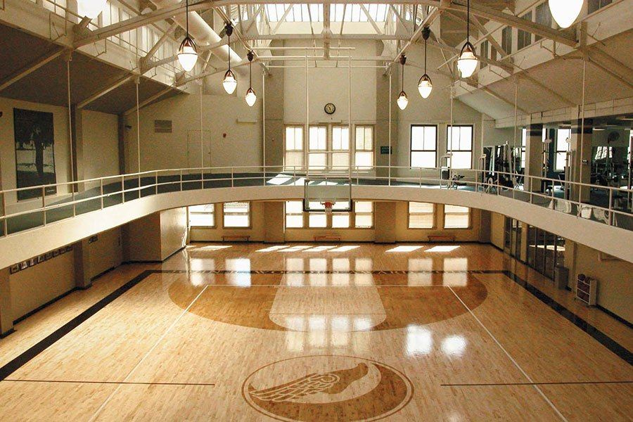 16 supremely stylish gyms from around the world olympic for Basketball gym dimensions
