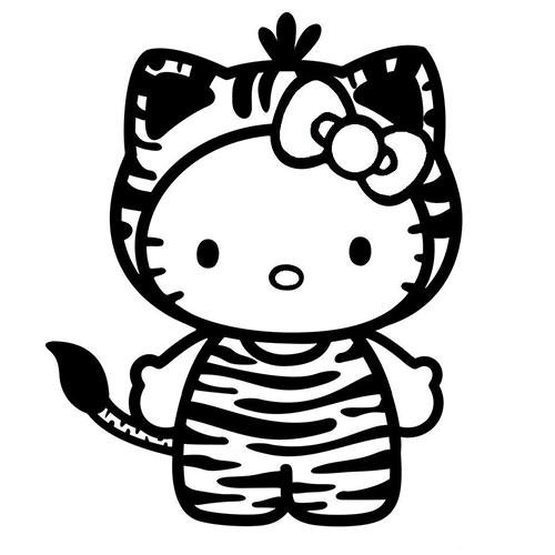 Hello Kitty Die Cut Vinyl Decal Pv990