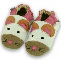 4f3fee0681c4 Cute Mouse Soft Leather Baby Shoes