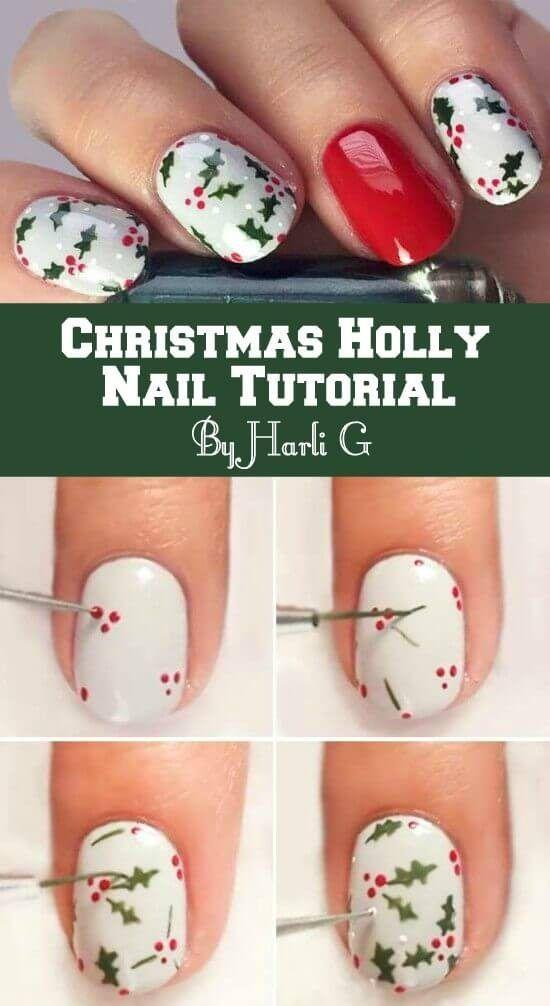 Christmas Nail Polish Ideas Pinterest Best Video Instructions ...