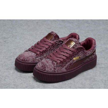 size 40 20dfb 20470 Puma Womens Rihanna Creepers Casual Shoes Burgundy ...