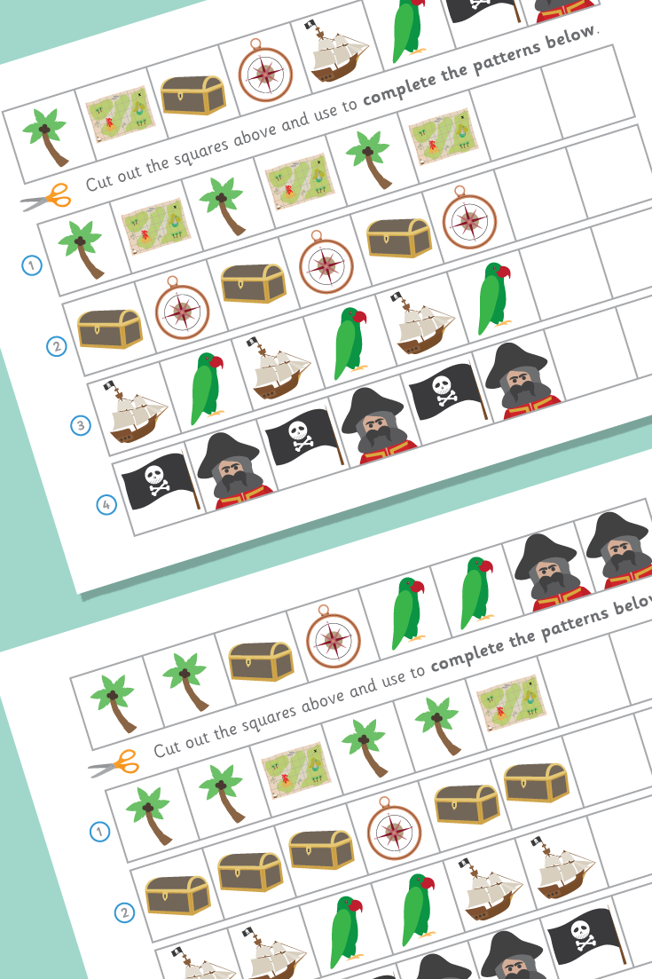 Complete The Pattern Worksheets Pirates Pattern Worksheet