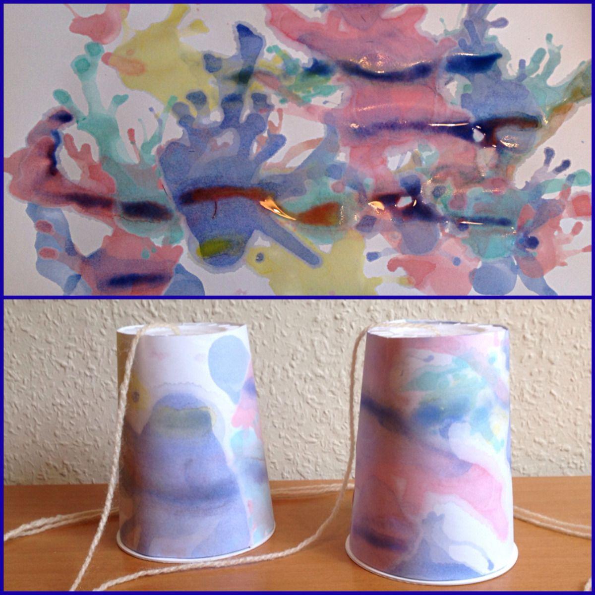 Heute will ich euch zeigen, wie schnell man mit Kindern im frühen Kindergartenalter Papier farbenfroh gestalten kann. Und gleich nach dem Trocknen, kann das Kind mit Hilfe eines Erwachsenen dies Pa...