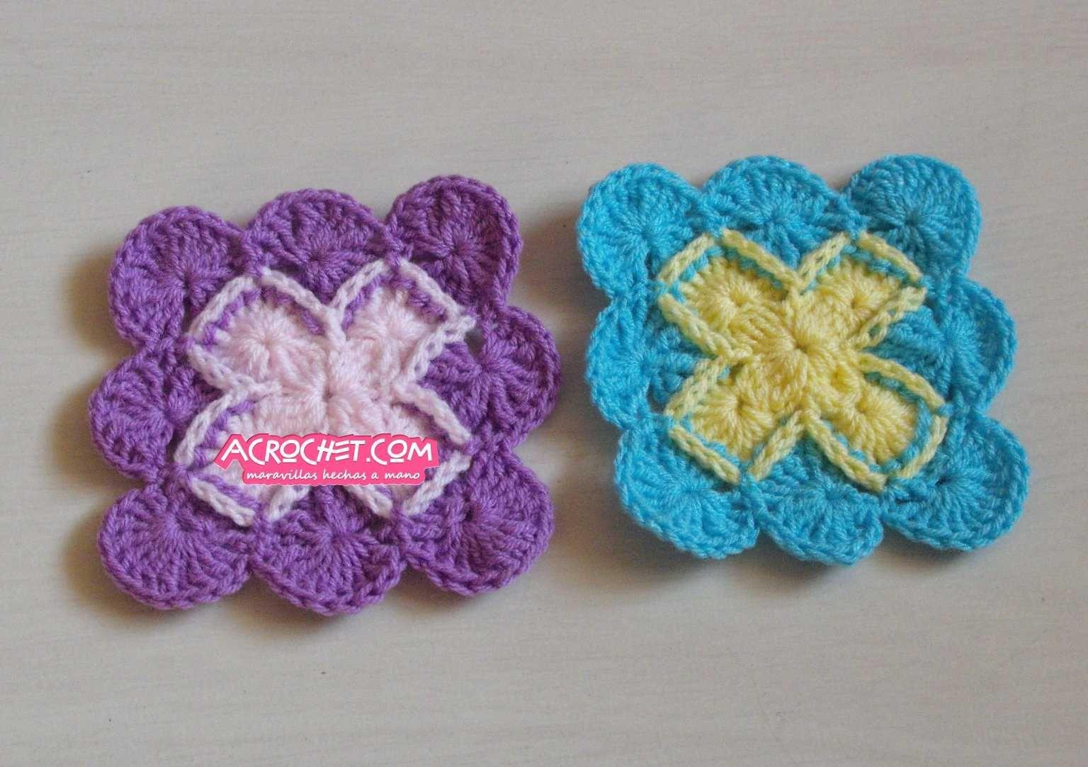 Punto Bavaria Cuadrado   Blog a Crochet – ACrochet – Tejidos y ...