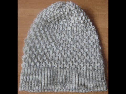 быстрая шапка вяжем шапку за 20 минут на вязальной машине нева 2