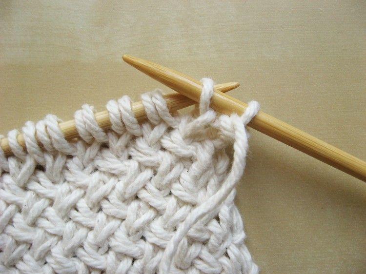 Diagonal Basketweave Knitting Pattern   Tejido, Dos agujas y Puntos
