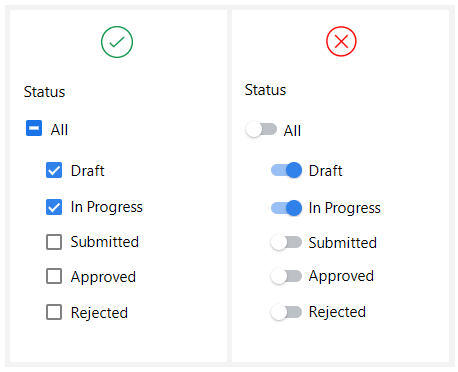 Checkbox vs Toggle Switch – UX Planet | Resources • Digital