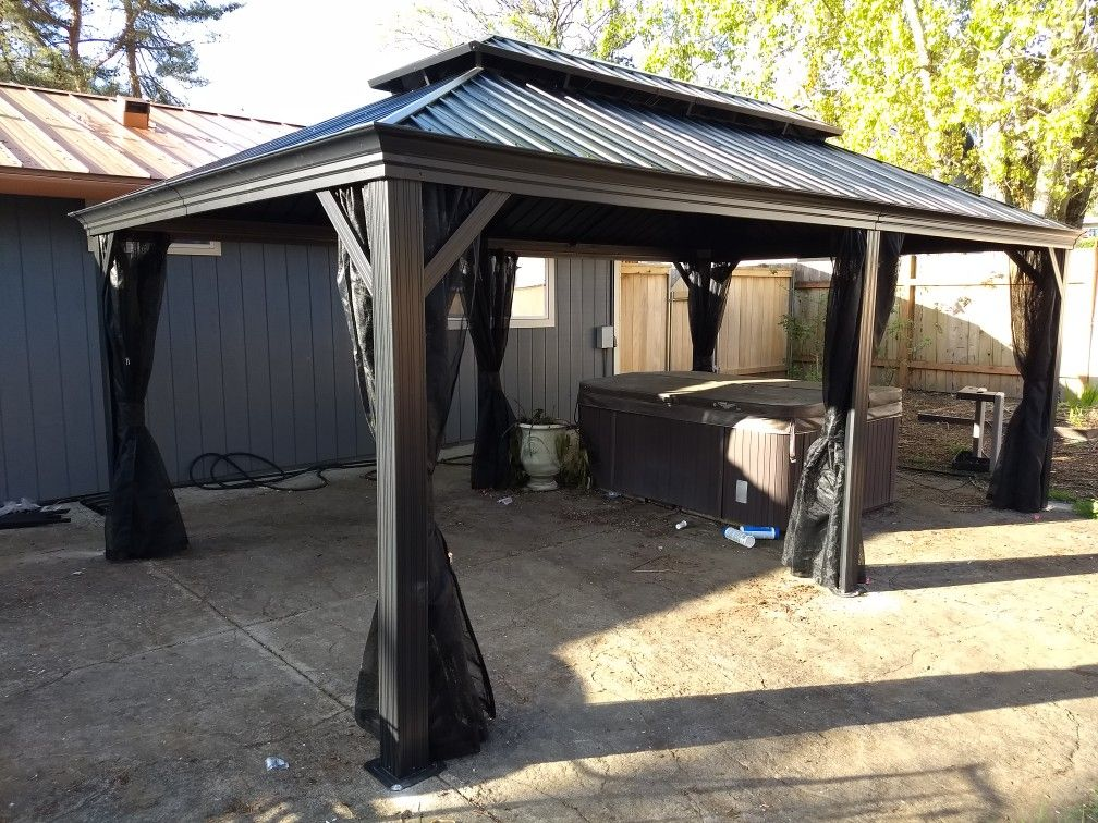 Canopy Enclosure Kit 12x20 Shelter Portable Uv Protection Garage Car Port Cover Carport Car Canopy Tent Garage Canopies