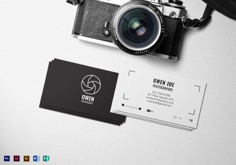 Photographer Lens Business Card Template Photography Business Cards Template Business Card Template Photoshop Photography Business Cards