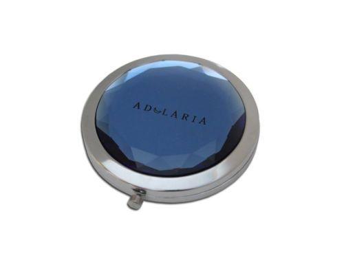 Specchietto doppio da borsa con pietra colore blu.
