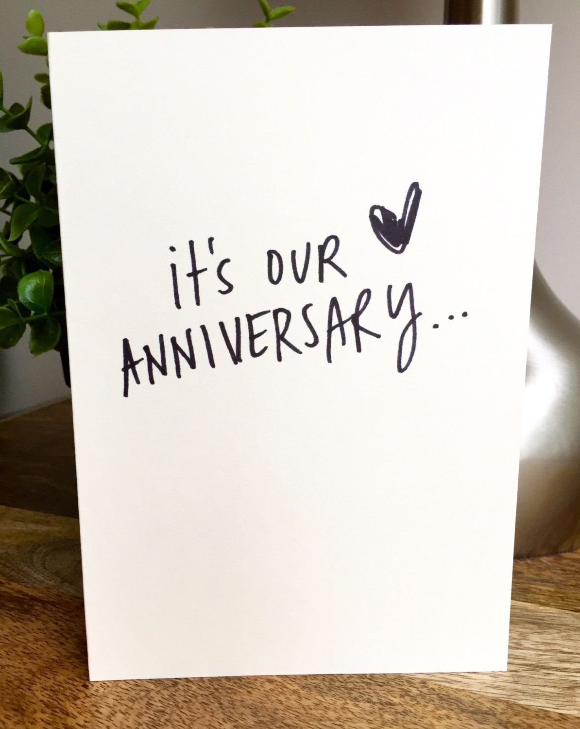 One Year Anniversary Card For Husband Paper Anniversary