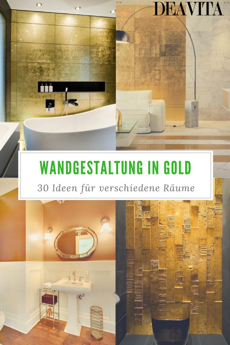 Bei einer Wandgestaltung mit Farben gilt der goldene ...