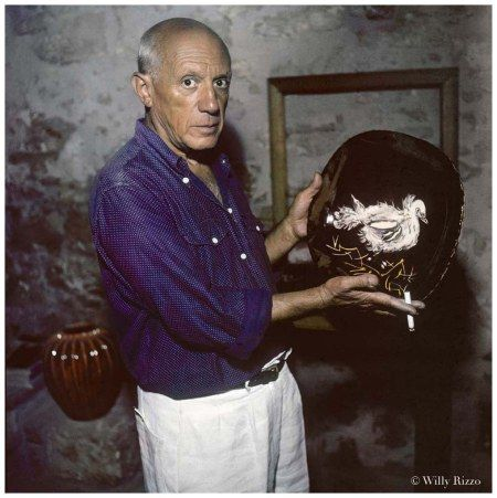 Pablo Picasso Vallauris, 1953 © Willy Rizzo