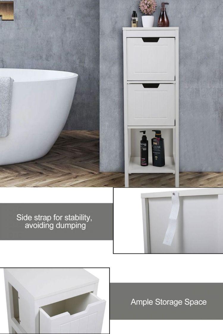 Tall Bathroom Storage Floor Cabinets W 2 Drawers Shelf Tall Bathroom Storage Bathroom Floor Cabinets Bathroom Storage [ 1125 x 750 Pixel ]