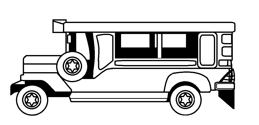Here Is Thepdf File Philippine Jeepney Clipart Black And White