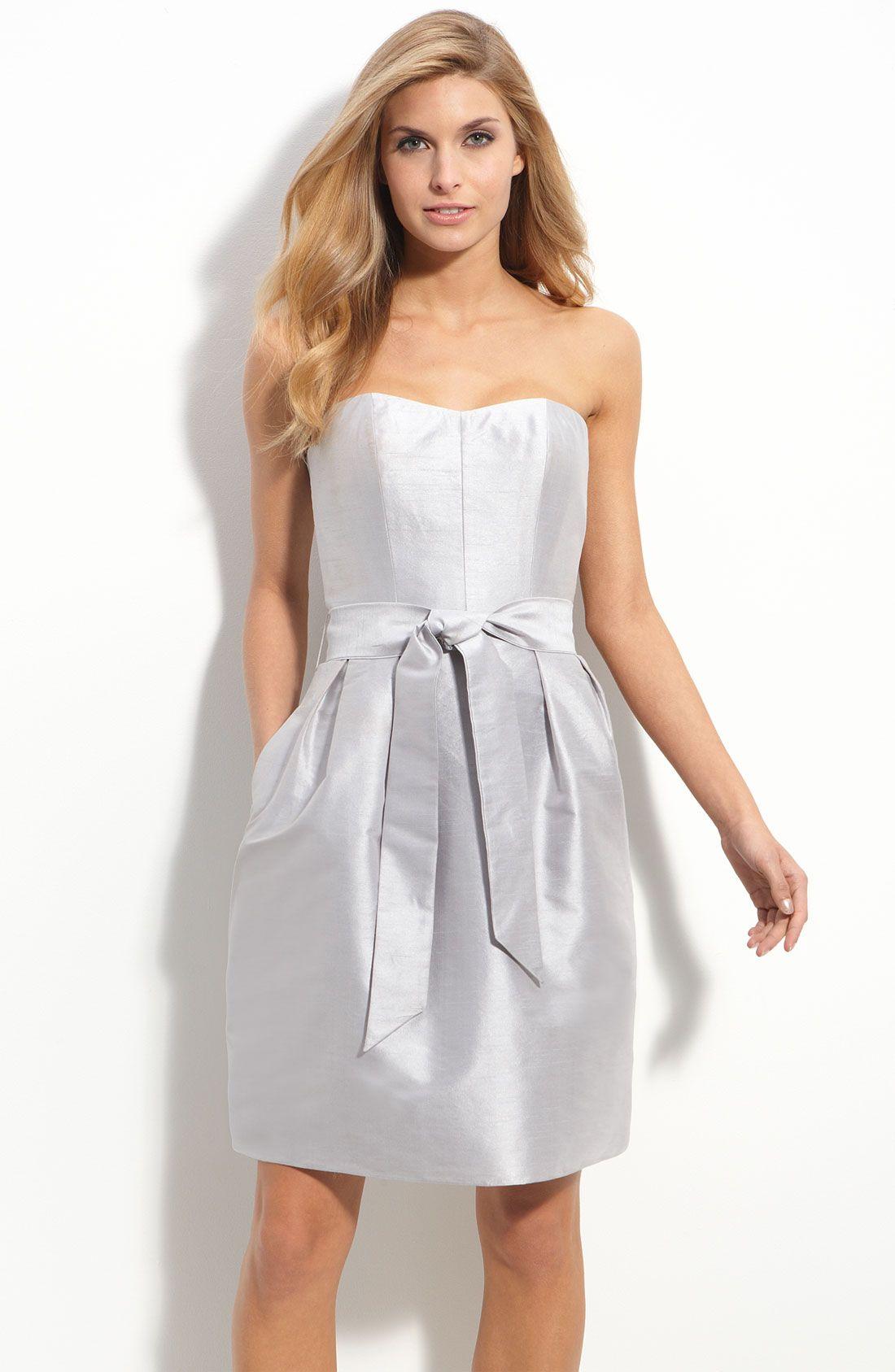 https://www.lyst.co.uk/clothing/js-boutique-strapless-dupioni-dress ...