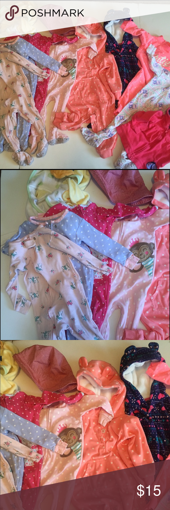 Bundle 12-18 mo Girls One Piece Winter Fall PJs Bundle 12-18 mo Girls One Piece Winter Fall Outfits Carter's Long Sleeve Footed PJs Sleepers Bathrobe Lot of 10?pieces Excellent to Very Good Condition 🚫 Trades Carter's Pajamas
