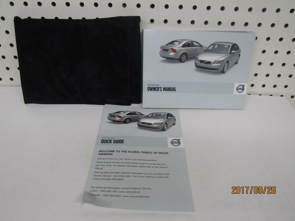 Ebay Sponsored 2009 Volvo S40 Owners Manual Set Free Shipping Owners Manuals Volvo Volvo S40