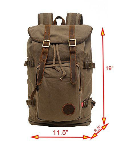 Amazon.com : Volyer Large Rucksack Hiking Backpack (Army Green) : Sports & Outdoors