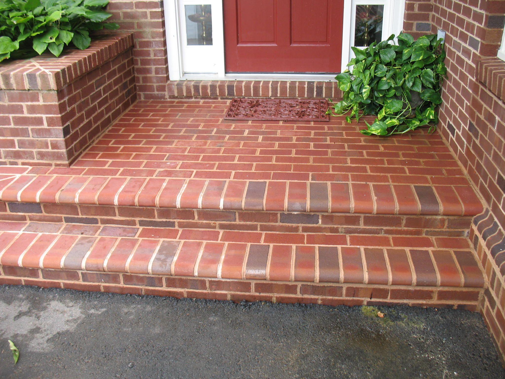 Front Steps Clean House Front Front Porch Steps Brick Steps