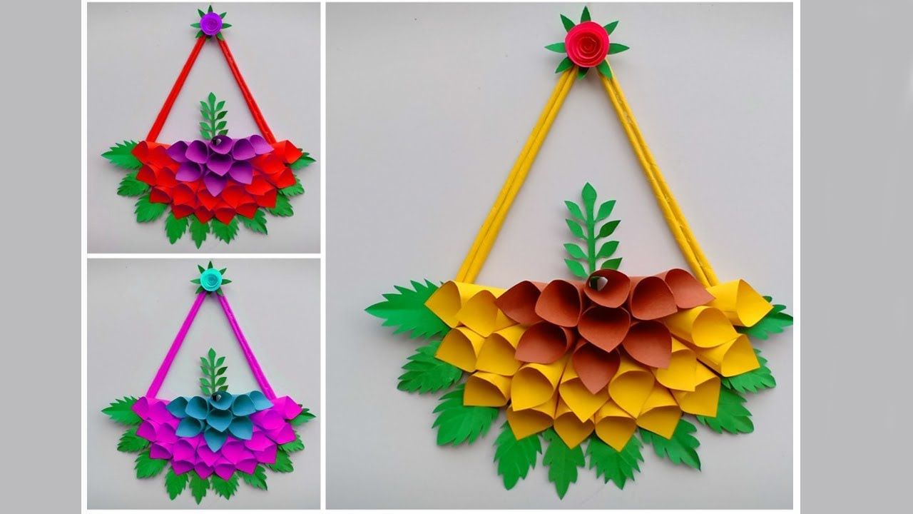 Paper Craft Wall Hanging Craft Ideas Room Decoration Diy