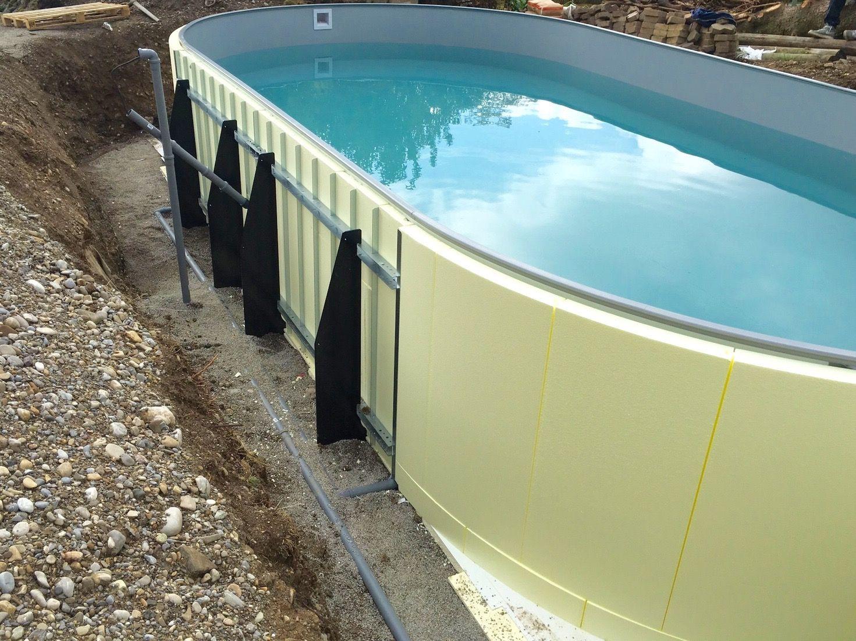 Der Pool Shop Fur Den Eigenbau Des Heimischen Pools Ovaler Pool