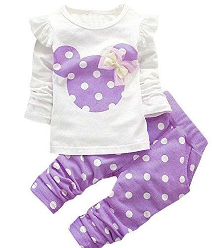 18560f87d8d7 Toddler Baby Girls Kids Clothes Minnie Mouse Shirt Top Leggings ...