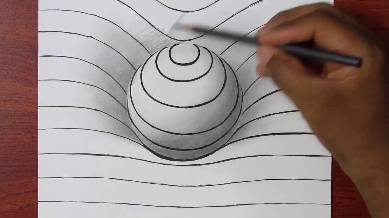 Comment Dessiner Une Sphere En 3d Illusion D Optique Tuto Dessin Facile Illusion Optique Dessin Dessin Illusion Illusion Optique
