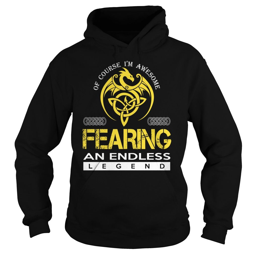 [Hot tshirt name printing] FEARING An Endless Legend Dragon Last Name Surname T-Shirt Discount 15% Hoodies, Funny Tee Shirts