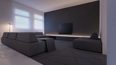 Perfekt Schwarz Und Weis Kinderzimmer Dekorieren Und Auch Wohnzimmer Indirekte  Beleuchtung Led Schwarzes Wohnzimmer