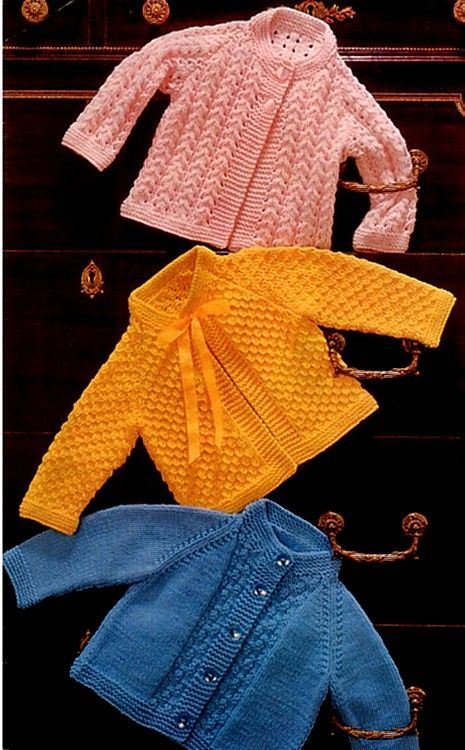 357c50fb8 PDF Digital Knitting Pattern Emu 8193 3 Baby Jackets Coats 20-21 ...