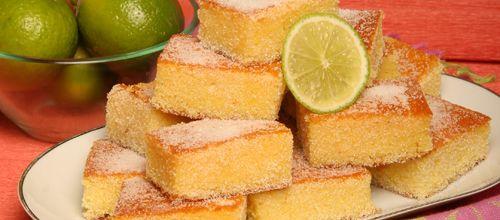 Receita de Quadradinhos de limão. Descubra como cozinhar Quadradinhos de limão de maneira prática e deliciosa com a Teleculinaria!