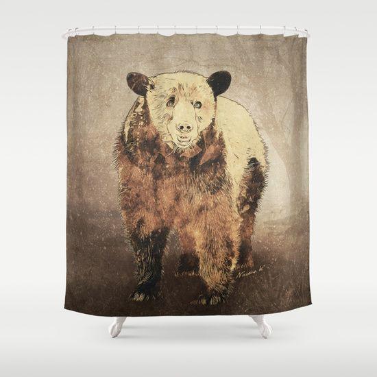 Formosan Black Bear Shower Curtain Black Bear Formosan Bear
