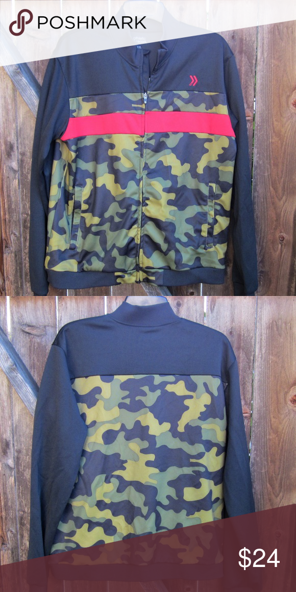 c14a03c00e337 Athletic Recon Black & Camouflage Track Jacket good condition with pockets,  says XL chest 44