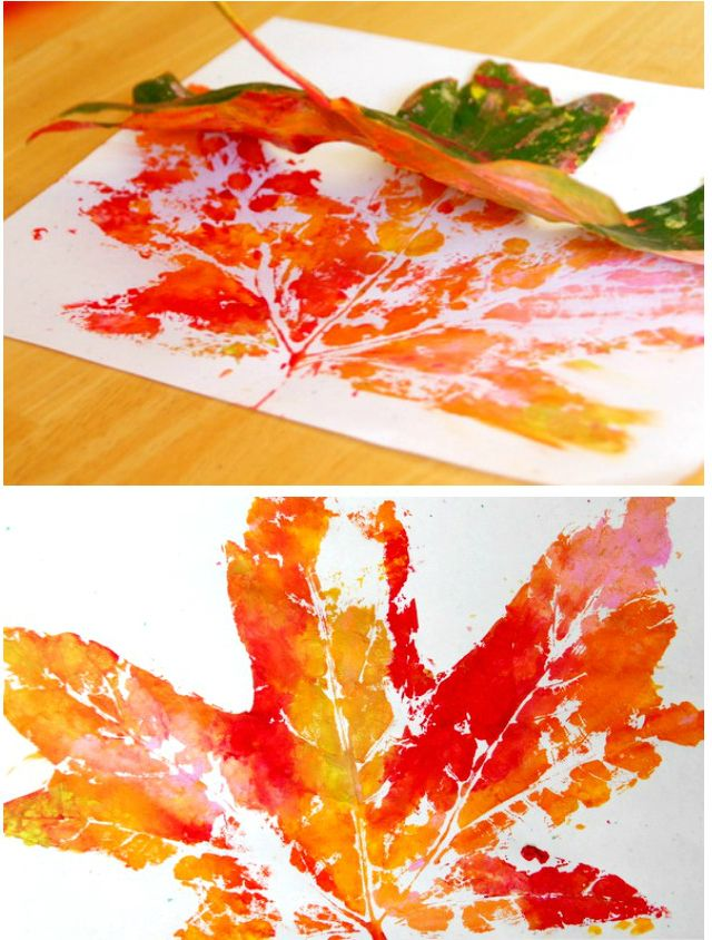 Photo of Crafts with 2-year-old children: printing leaves is a lot of fun