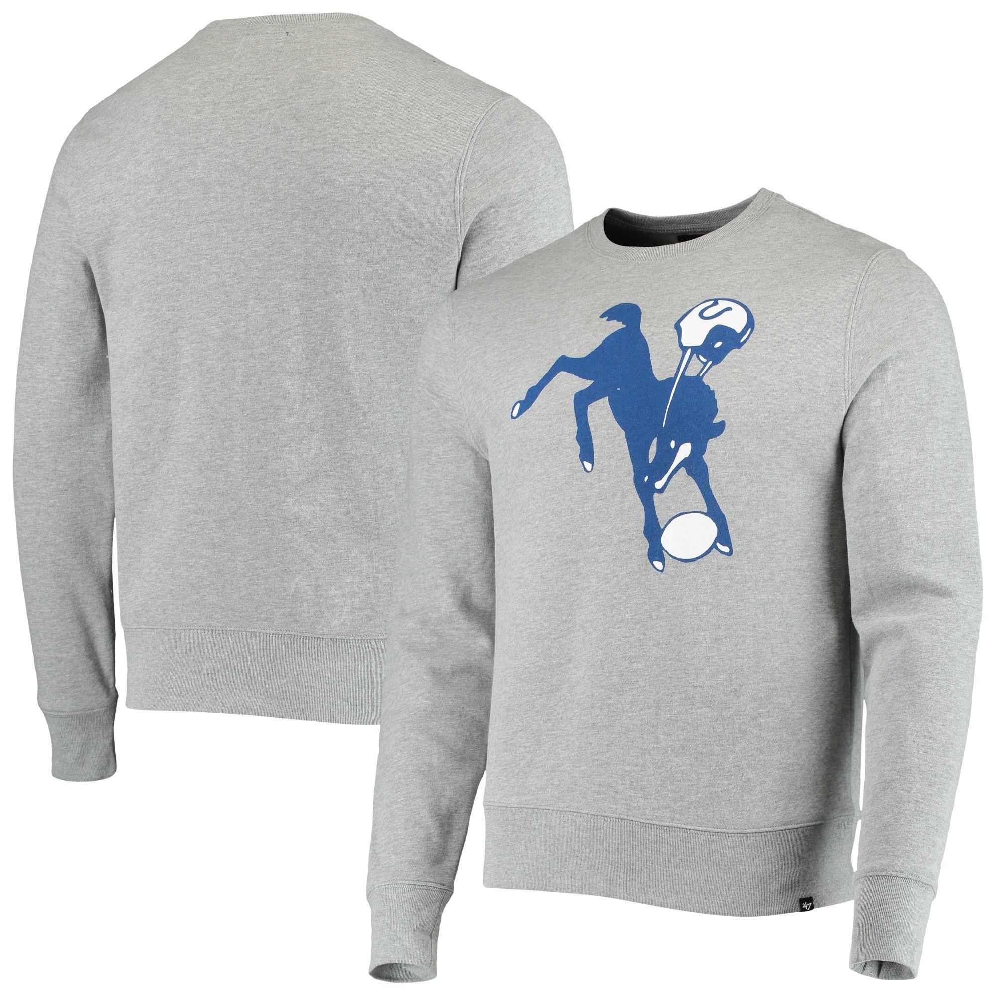 Indianapolis Colts 47 Imprint Headline Historic Logo Fleece Pullover Sweatshirt Heathered Gray Sweatshirts Fleece Pullover Pullover Sweatshirt [ 2000 x 2000 Pixel ]