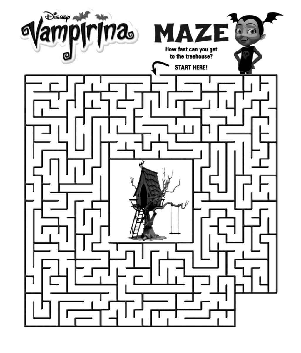 Vampirina Maze Activity Sheet Coloring Pages For Kids Coloring Pages Cute Coloring Pages
