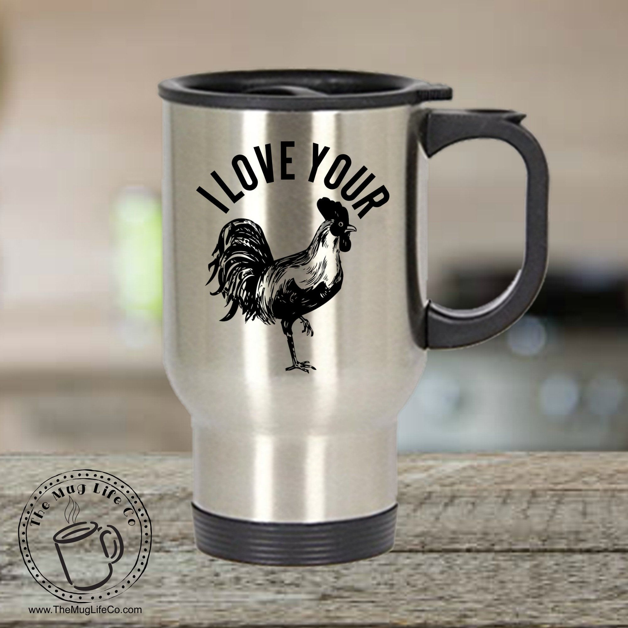 NOW ON TRAVEL MUGS!! Take the love of your woman (or man
