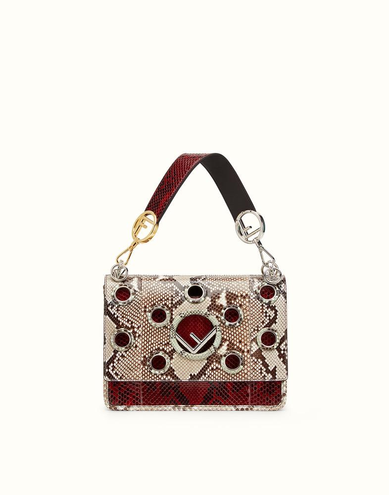 Fendi KAN I F White and dark red python bag | Python bags, Bags