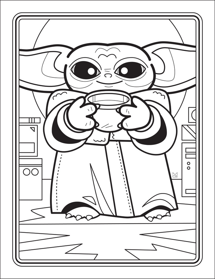 The Unofficial Baby Yoda Coloring Book | Free coloring ...