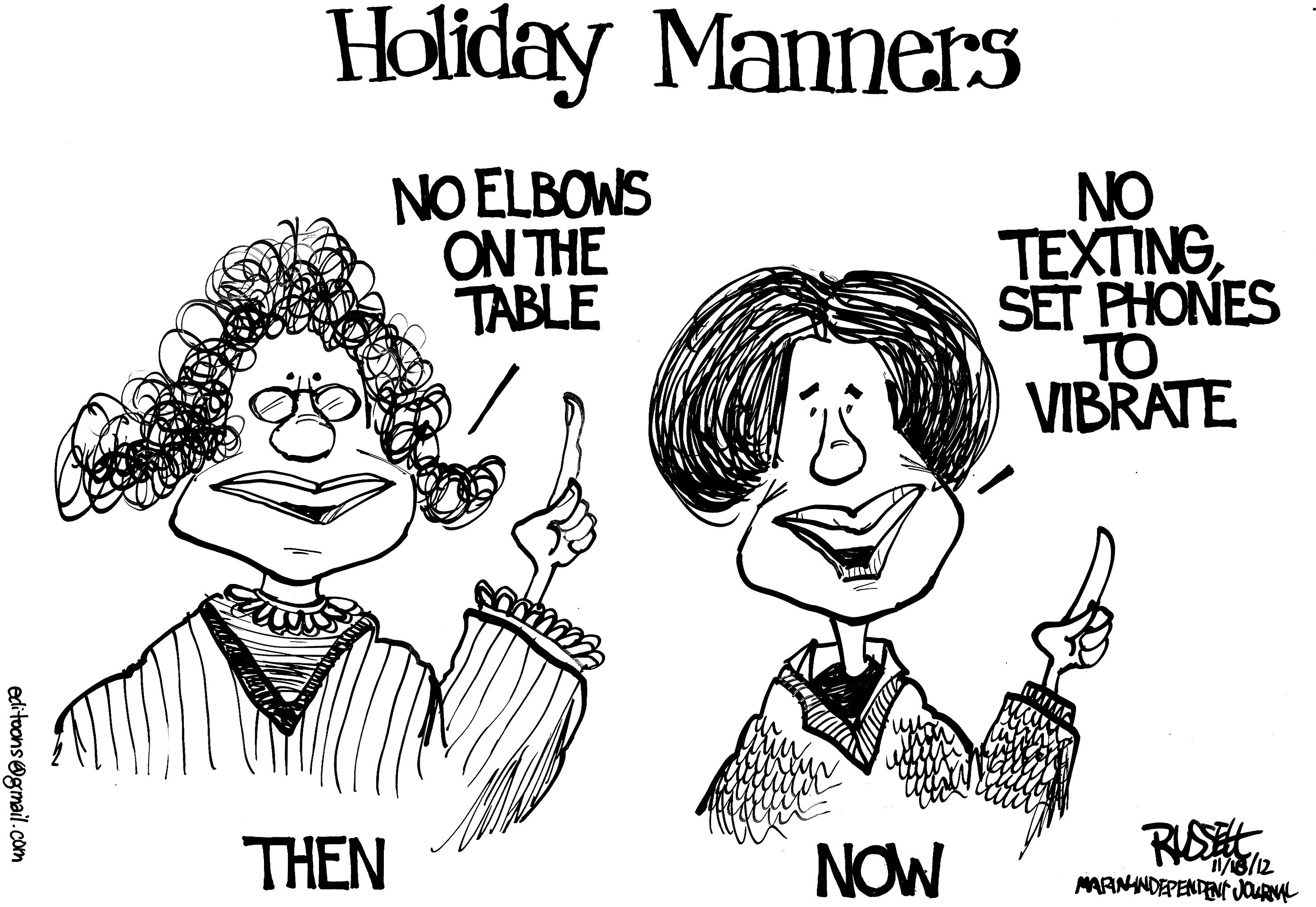 George Russell Thanksgiving Table Manners