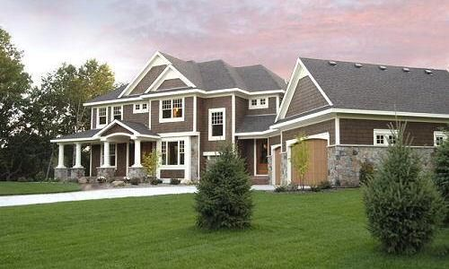 painting stone exterior of house | home exteriors - brown, white ...