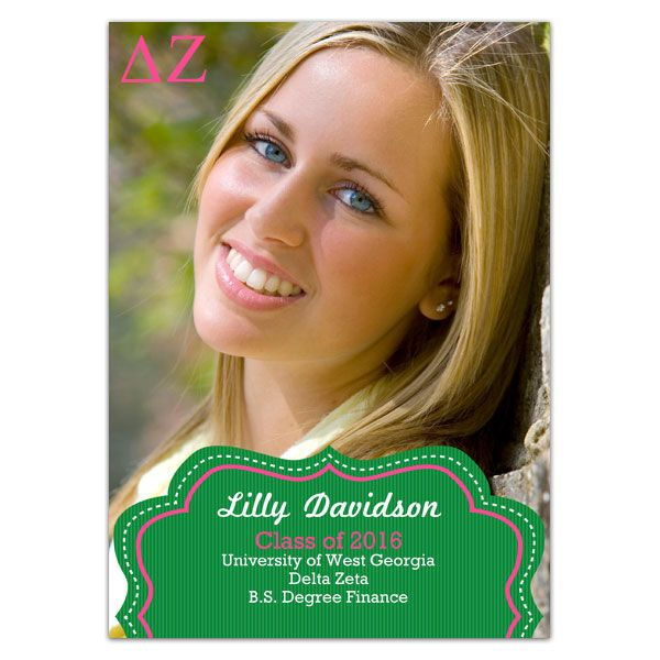 Delta Zeta Badge Grad Announcements