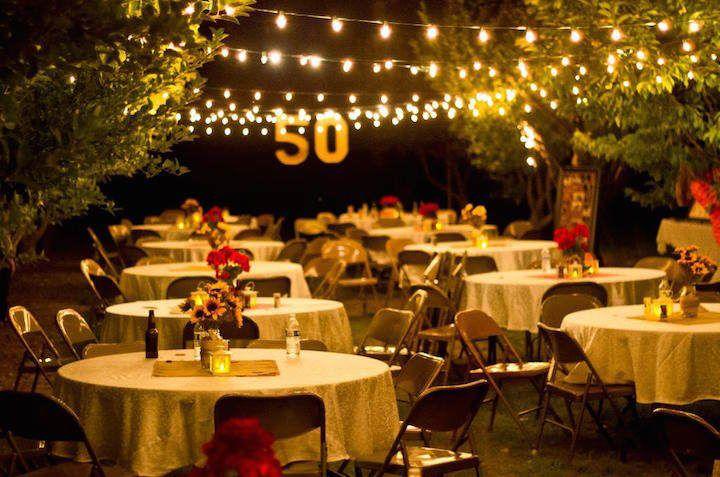 Preciosa decoraci n con globos para aniversario ve m s - Decoracion cumpleanos 50 anos ...