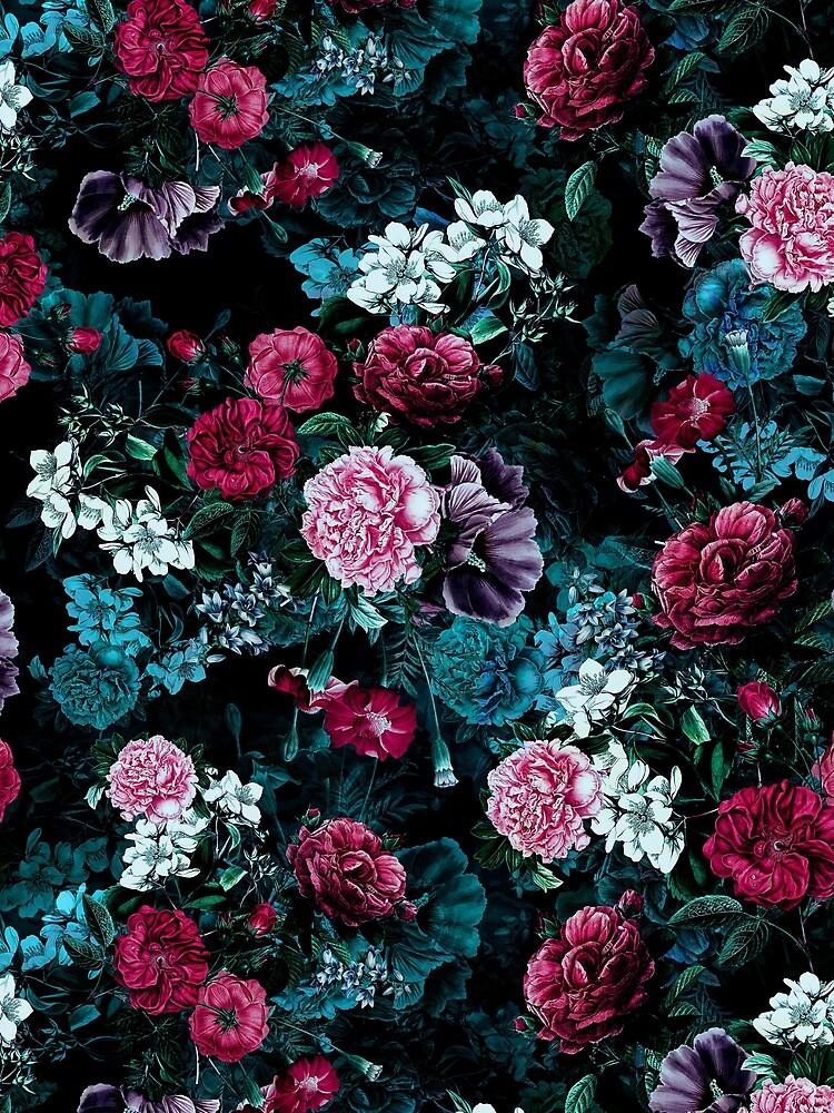 'Night Garden VII' Sleeveless Top by RIZA PEKER
