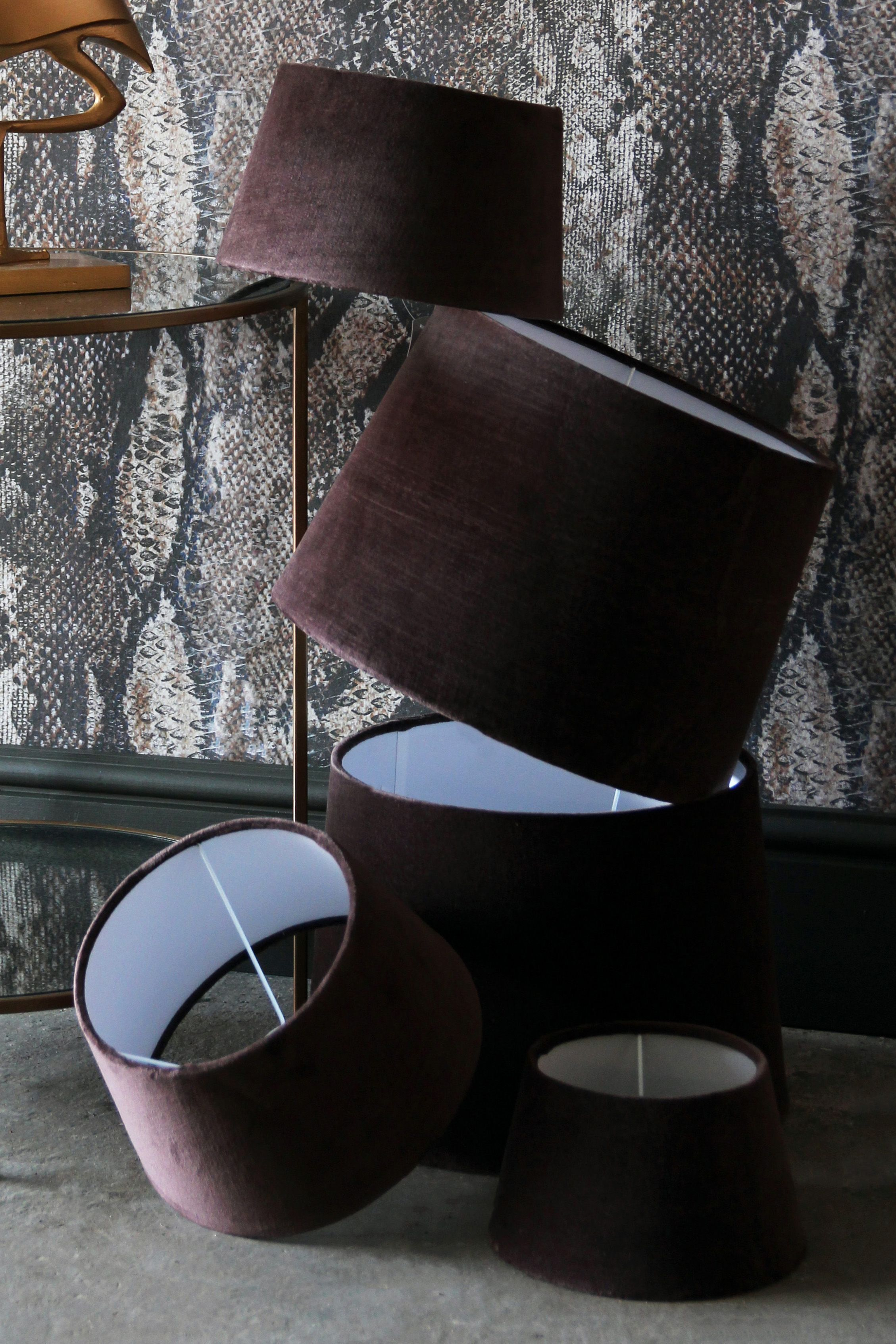 Chocolate Brown Sumptuous Velvet Lamp Shade Available In 3