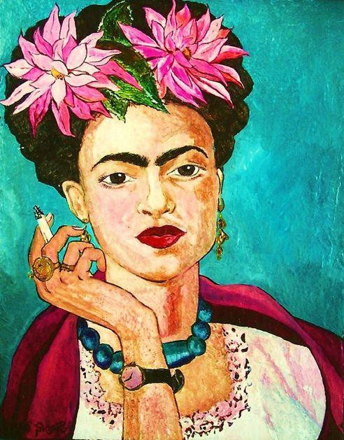The only thing I know is that I paint because I need to, and I paint whatever passes through my head without any other consideration. Frida